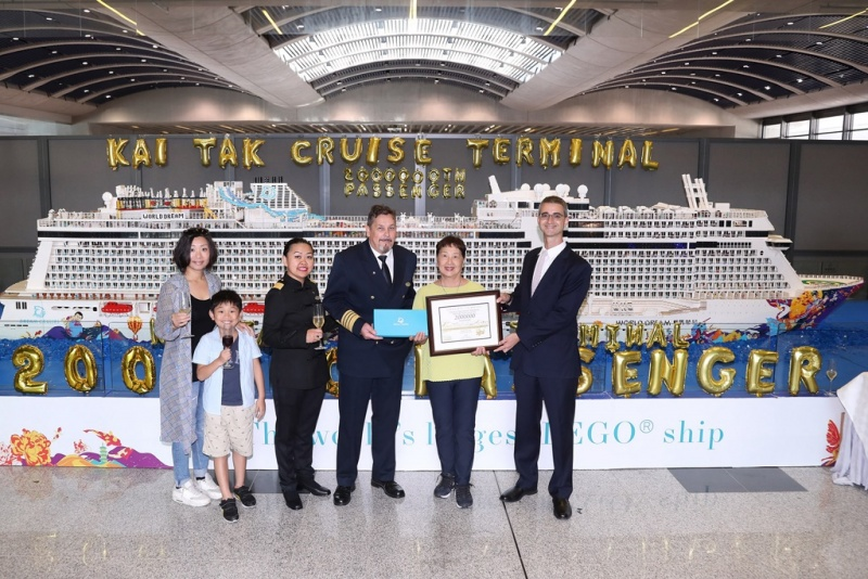 Kai Tak Cruise Terminal celebrates the arrival of the two millionth cruise passenger on Sept. 23, 2018