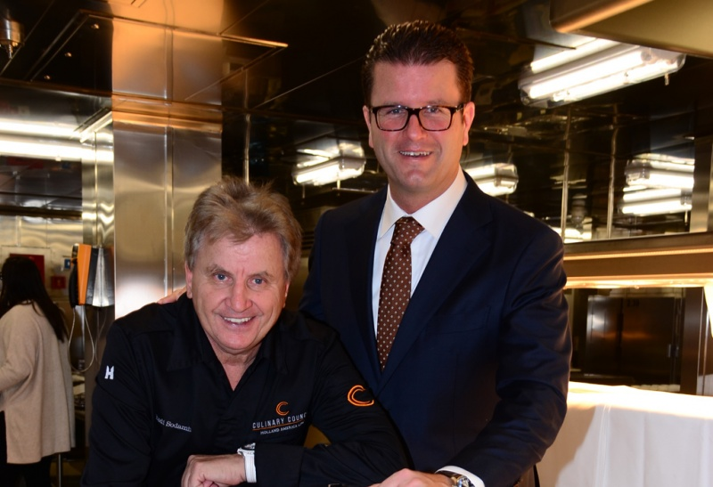 Rudi Sodamin, master chef (left) and Frits van der Werff (right), vice president of food and beverage