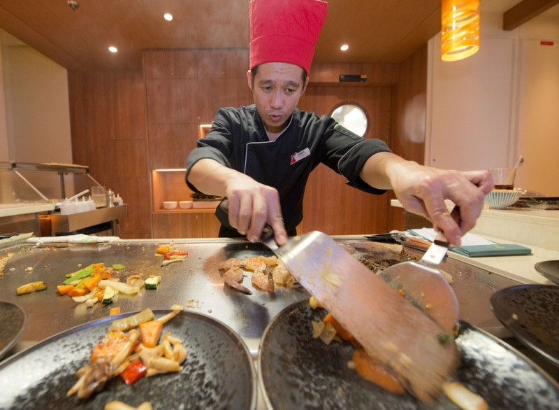 Teppanyaki has been a hit, but is restricted to newbuilds.