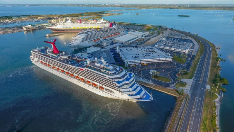 Carnival Ships in the West Basin at Port Canaveral