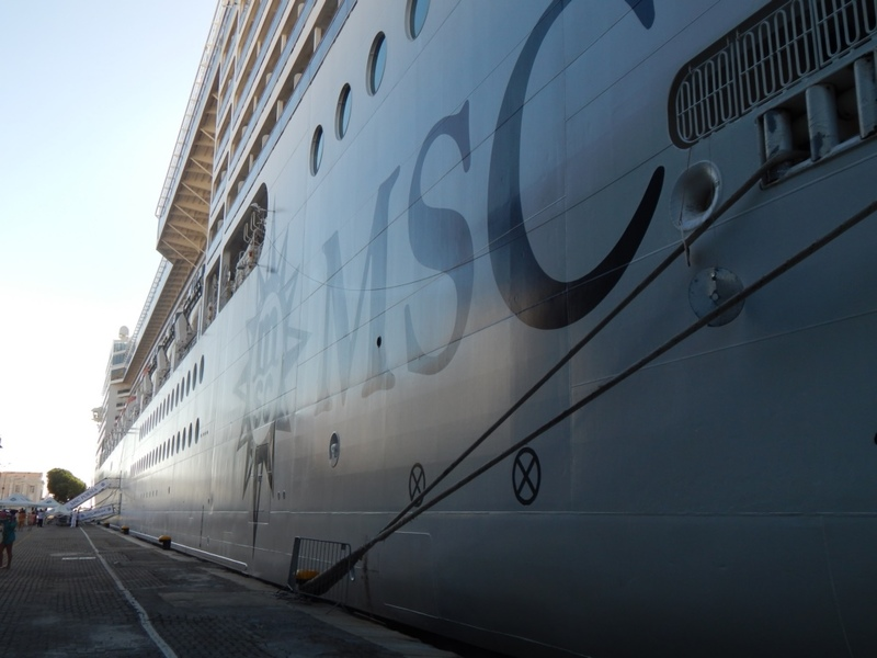 MSC Ship in Port