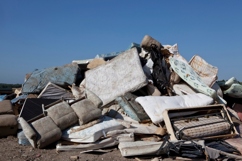 Mattresses in a Landfill