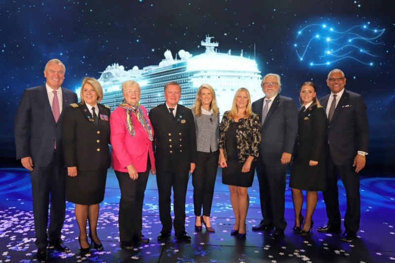 From the christening of the Sky Princess
