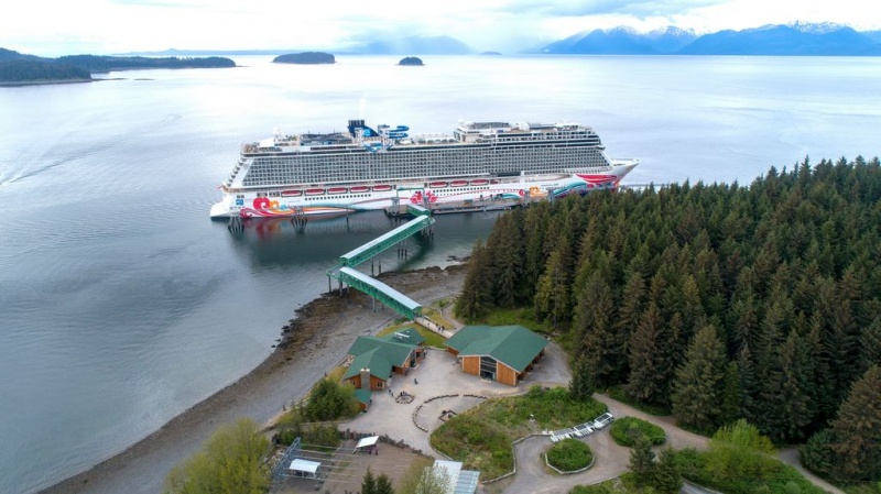 Norwegian Joy at Icy Strait Point