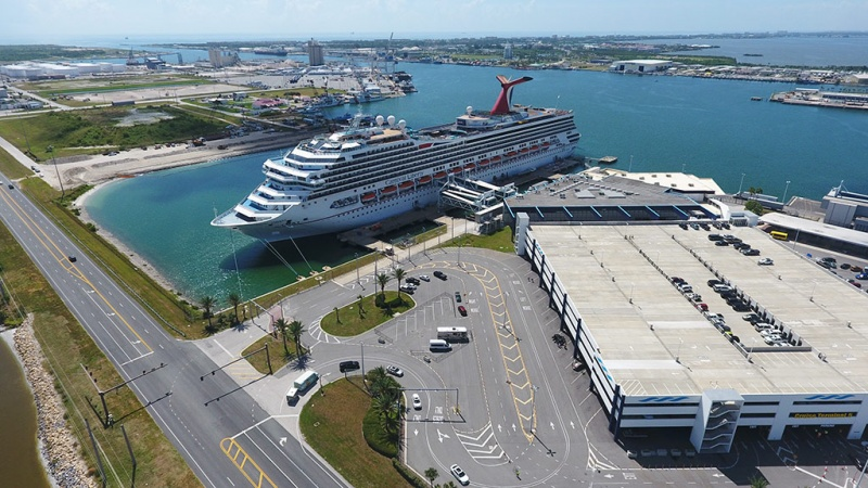 Carnival ship in Port Canaveral