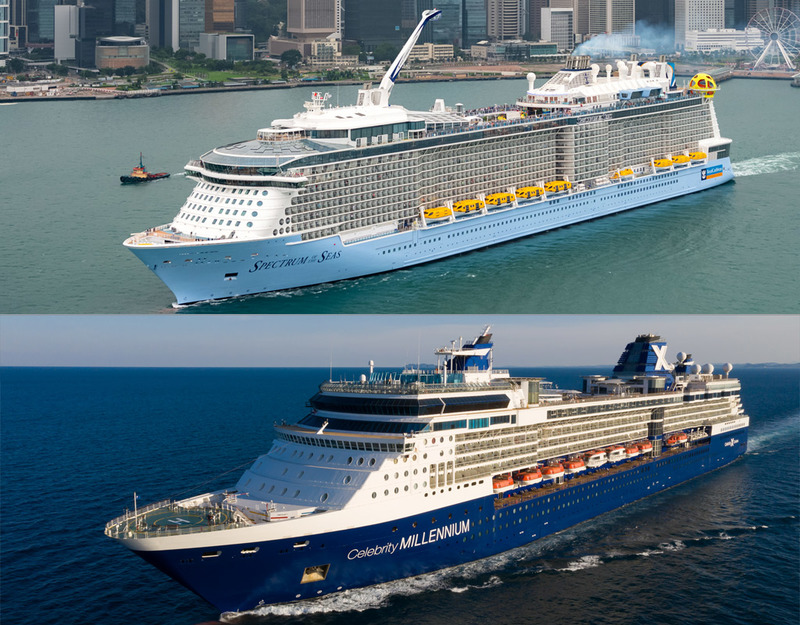 Spectrum of the Seas and Celebrity Millenium