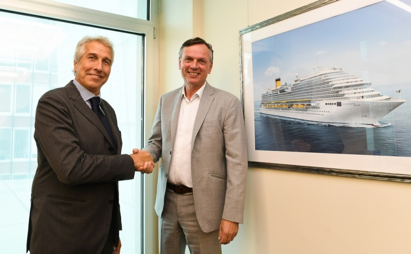 From left:  Ferdinando Garrè, CEO of San Giorgio del Porto and Michael Thamm, Group CEO Costa Group and Carnival Asia, and