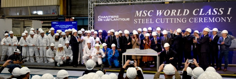 Steel Cut for 5,400-Guest MSC Europa