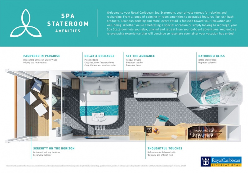 Spa Staterooms from Royal Caribbean