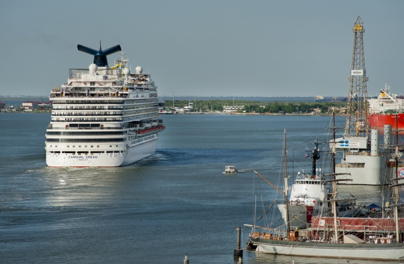 The Carnival Dream departs from Galveston