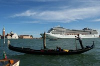 The amount spent by cruise-ship passengers is estimated at 180 million euros a year, while the total revenue from tourism in Venice, calculated by CISET, the International Center of Studies on the Tourist Economy, is 1.5 billion.