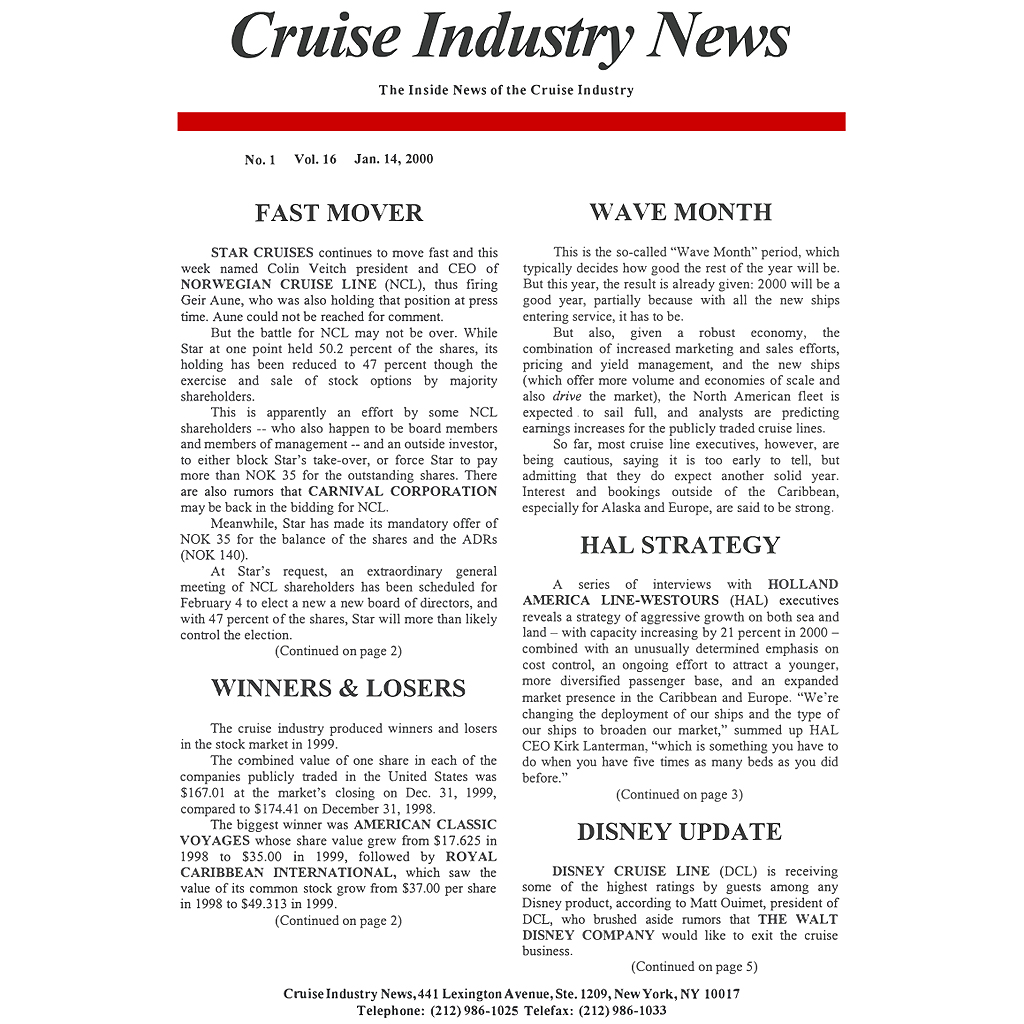 CIN Newsletter Archive: 2000 Edition
