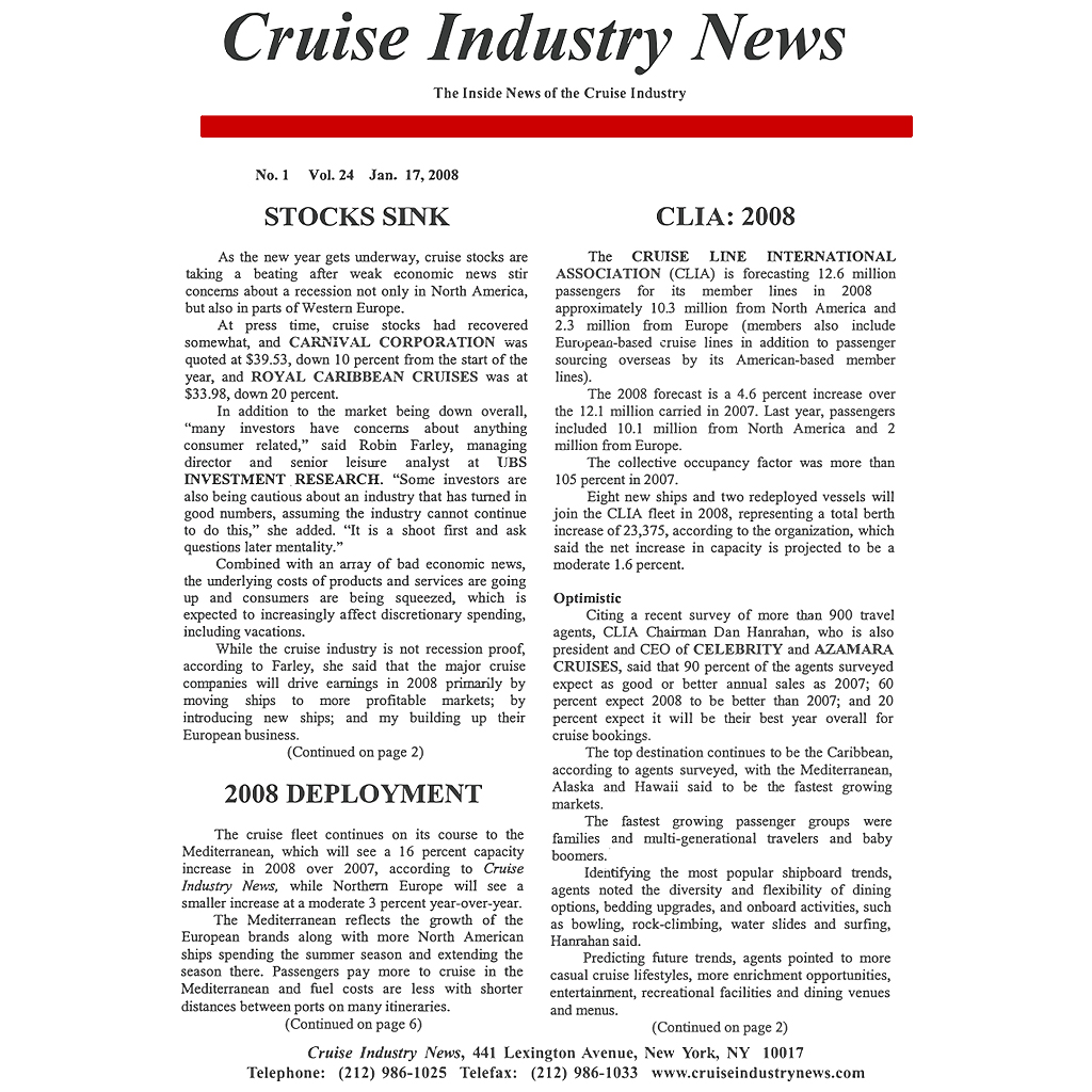 CIN Newsletter Archive: 2008 Edition