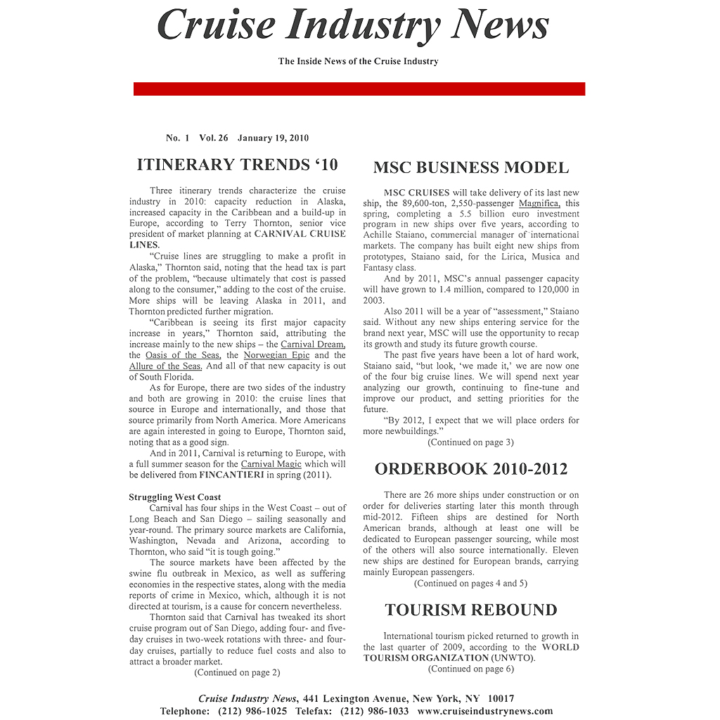 CIN Newsletter Archive: 2010 Edition