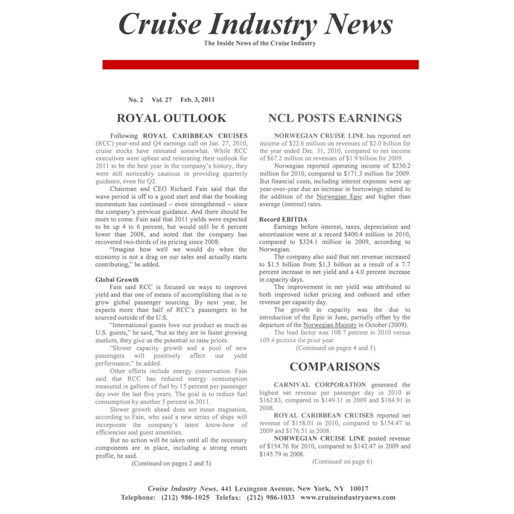 CIN Newsletter Archive: 2011 Edition