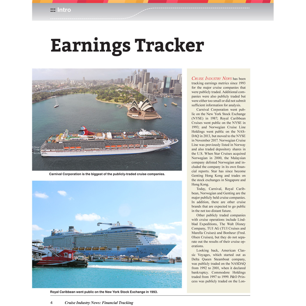 cruise industry financial tracking cruise industry news online store